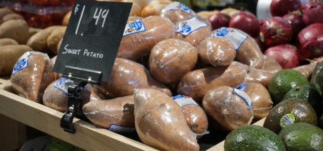 Sweet potatoes plastic packaging eliminate waste