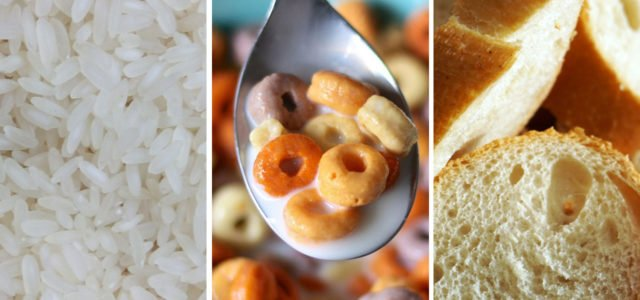 Unhealthy Foods cereal rice bread