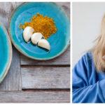woman sneezing herbs garlic thyme