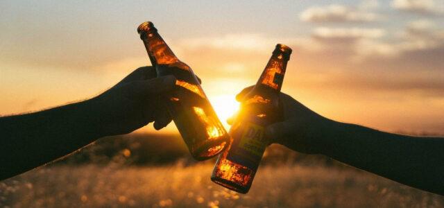Beer for Vegans Sunset