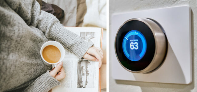 Recommended thermostat temperature settings for winter 63 degrees